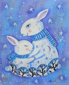 Painting For Kids, Drawing For Kids, Art For Kids, Crafts For Kids, Arts And Crafts, Winter Pictures, Colorful Pictures, Happy Paintings, Winter Art