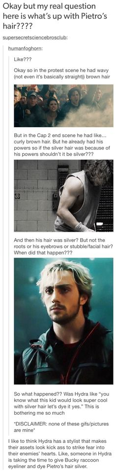 My guess is that coz he's super fast, parts of his body are aging quicker which is why his hairs going grey. but its silver because if you cans see in the second photo, his brown hair has a silvery sheen which is coz of the powers and that's why his grey hair is actually silver!