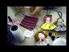 Passo a passo da BONECA MAGRELA DE FUXICO parte 1° | Cantinho do Video Costura em Roupas