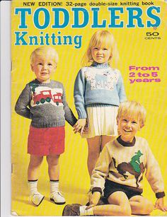 Toddlers Knitting Book from 2 to 5 years  by jennylouvintage
