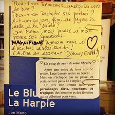 Le Blues de la harpie de Joe Meno  Editions Agullo  Coup de cœur de Myriam et Vivien @librairie_halldulivre Nancy @robert_myriam #doublecoupdecoeur #coupdecoeurlitteraire #lespetitsmotsdeslibraires #libraires