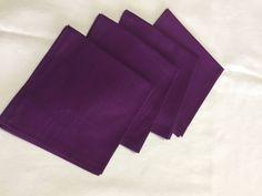 Purple Napkins, Cotton Napkins, Custom Napkins, Dinner Napkins, Table Linens, Reusable Napkins, Cloth Napkins, Fabric Napkins by SewWhatbyMindyKay on Etsy