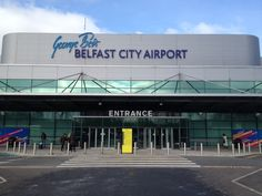 Bright sunny spring morning at Belfast City Airport