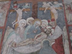 Fresco depicting the Descent from the Cross Jesus Christ The Descent, Jesus On The Cross, Art Studies, Fresco, Four Square, Jesus Christ, Mary, God, Painting
