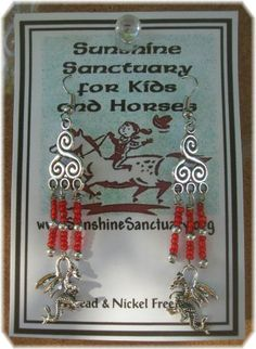 Tibetan Silver Dragon Dangle Earrings – Unique Handmade in USA #Handmade #DropDangle  Please take a minute to check out these  earrings on eBay, 100% goes to support Sunshine Sanctuary for Kids & Horses. If you have any questions or would like a special order made, please don't hesitate to contact me