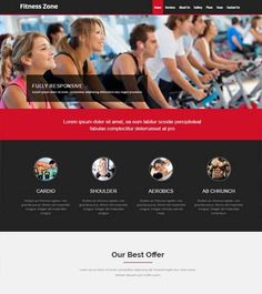 html fitness website template