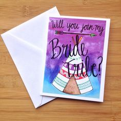 Bridesmaid Card Will You Join My Bride Tribe by PaisleyandHazel