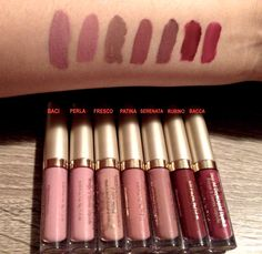 Stila Minis Stay All Day liquid lipstick matte swatches medium skin