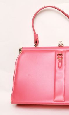 Mod 1960s  Mad Men Bright Pink FreeStanding Purse by TheRetroCache, $30.00