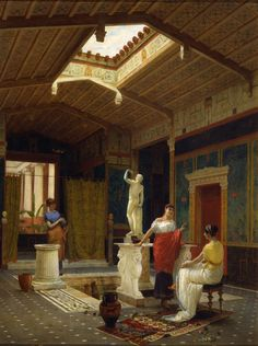 Pompeian Interior by Luigi Bazzani, 1882