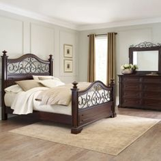 Bedroom Sets Jcpenney me & chuck - shop for a clairfield 7 pc queen panel bedroom at