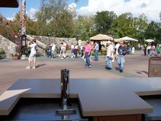 View from the popcorn cart in the Canadian Pavilion at Epcot.