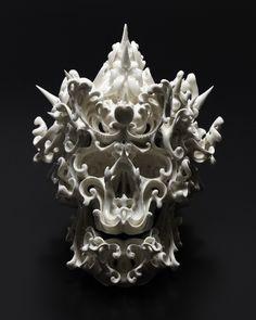 Amazing ceramic skull sculptures by Katsuyo Aoki