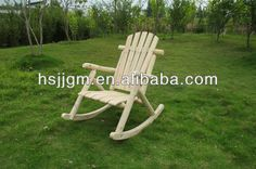 solid wooden outdoor rocking chair