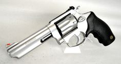 """Taurus Model 941 Stainless Steel .22 Mag. This Model 941 from Taurus is a SA/DA revolver chambered for .22 Mag. A great plinker, it features a matte stainless steel finish, fixed front sight, adjustable rear sight, rubber grips, and transfer bar safety. 8-shot capacity of .22 WMR. 4"""" barrel. 24 oz. [Pre-Owned] $299.99"""