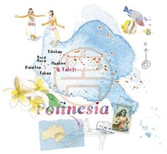 Cristiano Lissoni  - Map of Polynesia