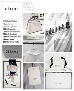Celine - Fashion Designer Branding Packaging Logo Communication Identity - Collaged by Yağmur Kutlu