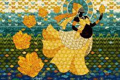 Oxum - Orisha of rivers and lakes - goddess of fertility- by Menote Cordeiro - Brazil