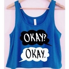 The fault in our stars okay blue tank top