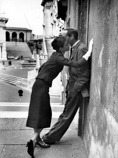 1958, Audrey Hepburn and Mel Ferrer in Rome, Italy, 1958