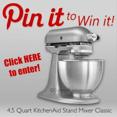 Pin To Win - KitchenAid Stand Mixer Giveaway