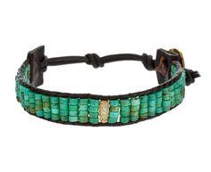 Turquoise and Gold Shimmer Bracelet
