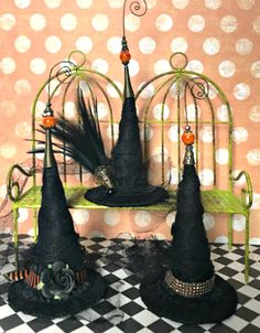 Witch Hat Ornaments Halloween Decoration Halloween Tree