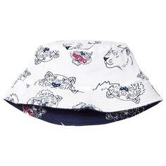 Kenzo Kids Navy Multi Tiger Reversible into White Bucket Hat Kenzo Kids 8ccf78bf9bb2