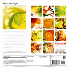 Transparent lighting combined with creative design emphasize the image character in a special way. The calendar fits perfectly in every modern kitchen.