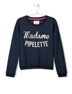 Sweat imprimé Madame Pipelette
