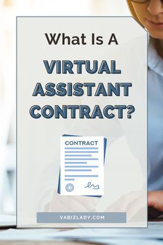The Virtual Assistant Contract is an official contract between you and a client. It addresses all aspects of a business relationship between yourself and the client, including: Nature of Services, Relationship of the Parties, Compensation & Reimbursement, Confidential Information, Protection of Company Information, Disclosures, Termination of Agreement, and more. #virtualassistant #virtualassistants #virtualassistance #virtualassistantlife #virtualassistantservices #virtualoffice