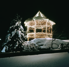 This brightly decorated gazebo greets our guests at the Main Entrance.