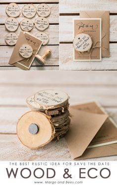 Rustic save the date #savethedate #rusticsavethedate #magnet #ecoandwoodwedding #ecowedding