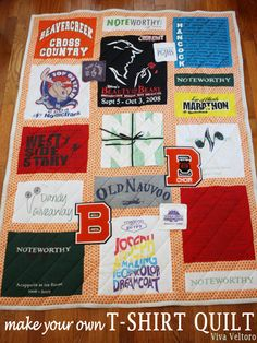Make your very own t-shirt quilt!  #DIY tutorial!