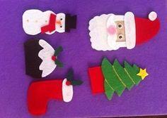 Christmas Themed Hand Made Felt Finger Puppets Preschool Educational Resource Felt Finger Puppets, Pretend Play, Christmas Themes, Preschool, Parenting, Education, Handmade, Ebay, Childcare