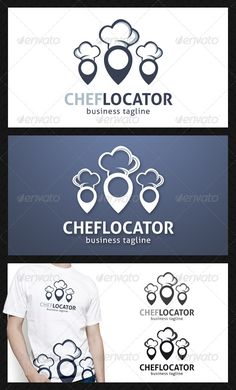 Chef Locator Logo Template