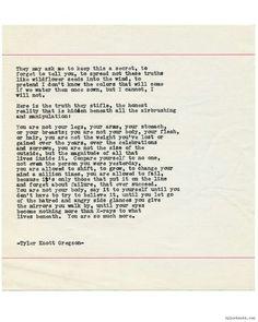 Typewriter Series #1462 by Tyler Knott Gregson