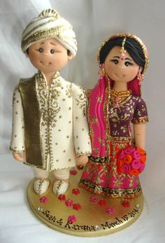 Personalised Indian Asian Ethnic wedding cake by ALittleRelic, £110.00