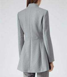 Reiss Delaney Seam Detail Fit and Flare Coat in Gray (GREY) - Lyst $519