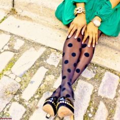 patterned tights (extend summer dresses and skirts a little further into fall)