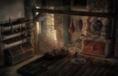 Medieval kitchen Medieval fantasy Medieval Medieval houses