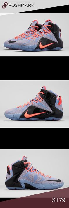 """Nike LeBron """"Easter"""" Special Edition This """"Easter"""" edition of the Nike LeBron 12 is dressed in a Aluminum, Sunset Glow, Hot Lava, and Black color scheme for Spring. The shoe features a subtle floral print on the pastel Sunset Glow-colored upper that fuses with Black on throughout the silhouette. The floral pattern mixed with pastel hues is a nod to James's fashion adeptness of seamlessly mixing prints and colors. The shoe is finished with an icy translucent outsole. Nike Shoes Athletic Shoes"""