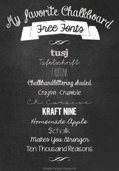 Dreierlei Liebelei: I ♥ Free Fonts! Part 5 {Chalkboard-Special}