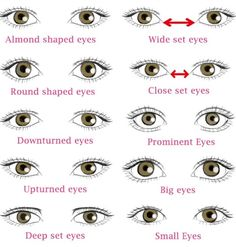 Diffe Types Of Eye Shapes Which One You Have
