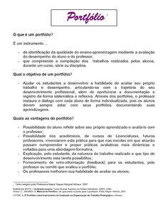 O DOM DE EDUCAR!: COMO FAZER UM PORTFÓLIO, PASSO A PASSO Portuguese Lessons, Good Books, Teaching, Education, School, Twitter, Fun Learning, Jar Crafts, Art Classroom