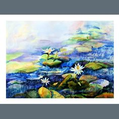 Water Lily Fine Art Note Cards in Set of 5 with white door DreamON, $14,00