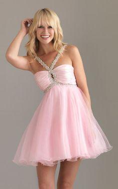 Night Moves 6407 Halter Short Prom Dress Pink