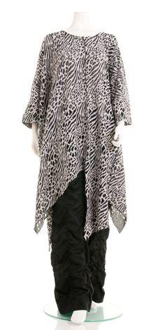 Yiannis Karitsiotis Zebra Design Asymmetric Tunic