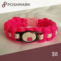 Kids Hello Kitty Paracord Bracelet. Size S. Handma ** Item is made by the seller, the charm is not made by the seller **  ** I do accept reasonable offers **  Hello Kitty  PARACORD BRACELET Brand NEW Handmade by Seller Size Small 550 Paracord Used Handmade by Seller Accessories Jewelry