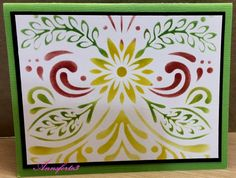CAS374, Swirling Leaves of Color by annsforte3 - Cards and Paper Crafts at Splitcoaststampers